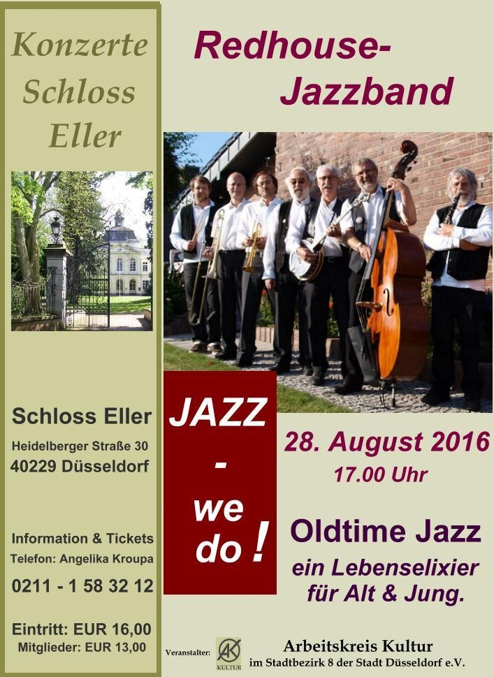 JAZZ  –  we do! – Oldtime Jazz –  mit der Redhouse Jazzband