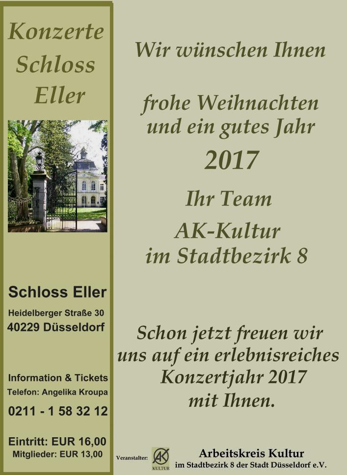"""Weihnachtskonzert im Schloss Eller"""