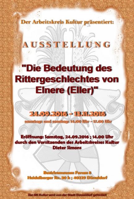 """Ausstellung """"Die Bedeutung des Rittergeschlechtes von Elnere (Eller)"""""""